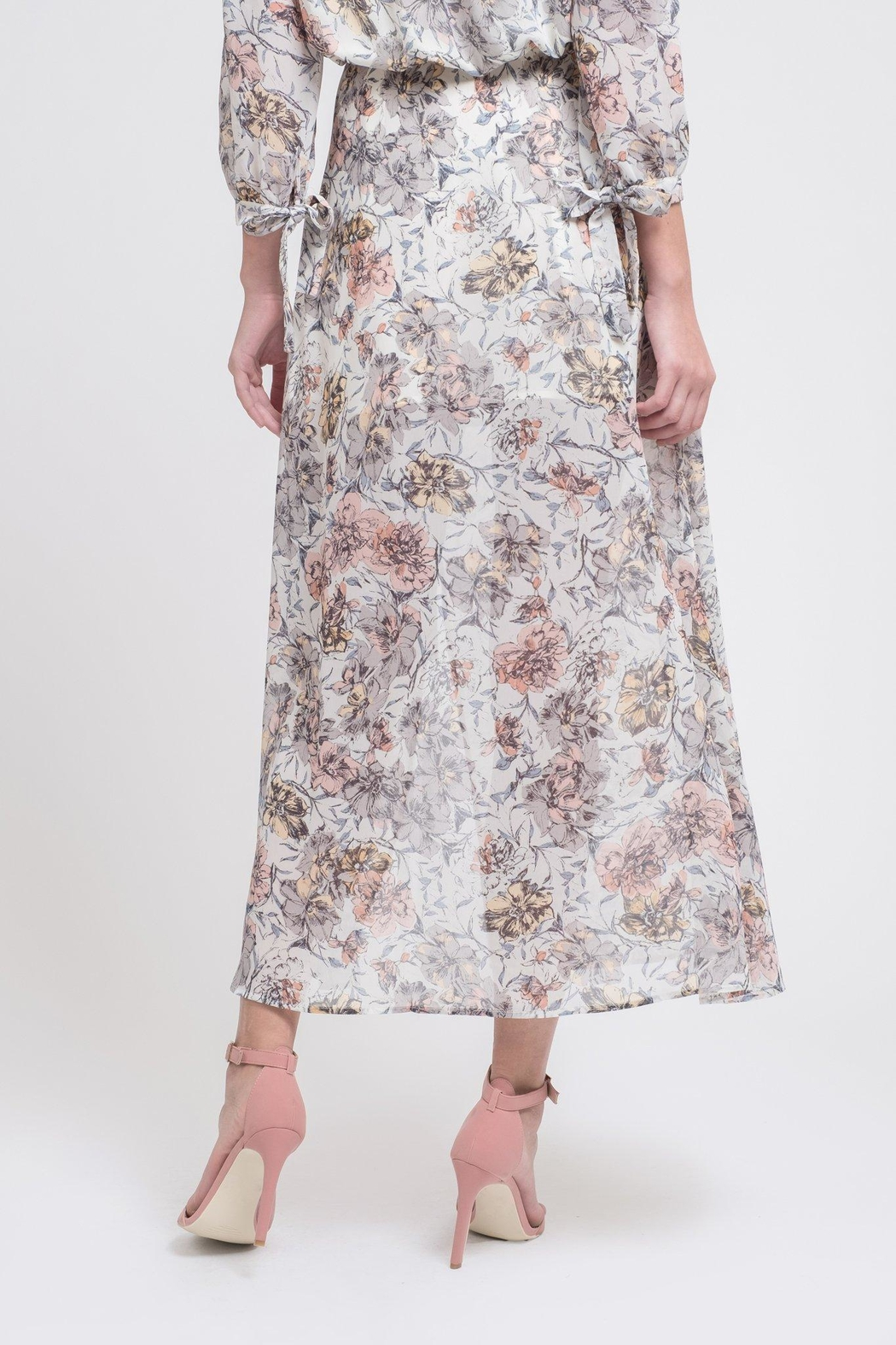 J.O.A. Floral Maxi Skirt - Side Cropped Image