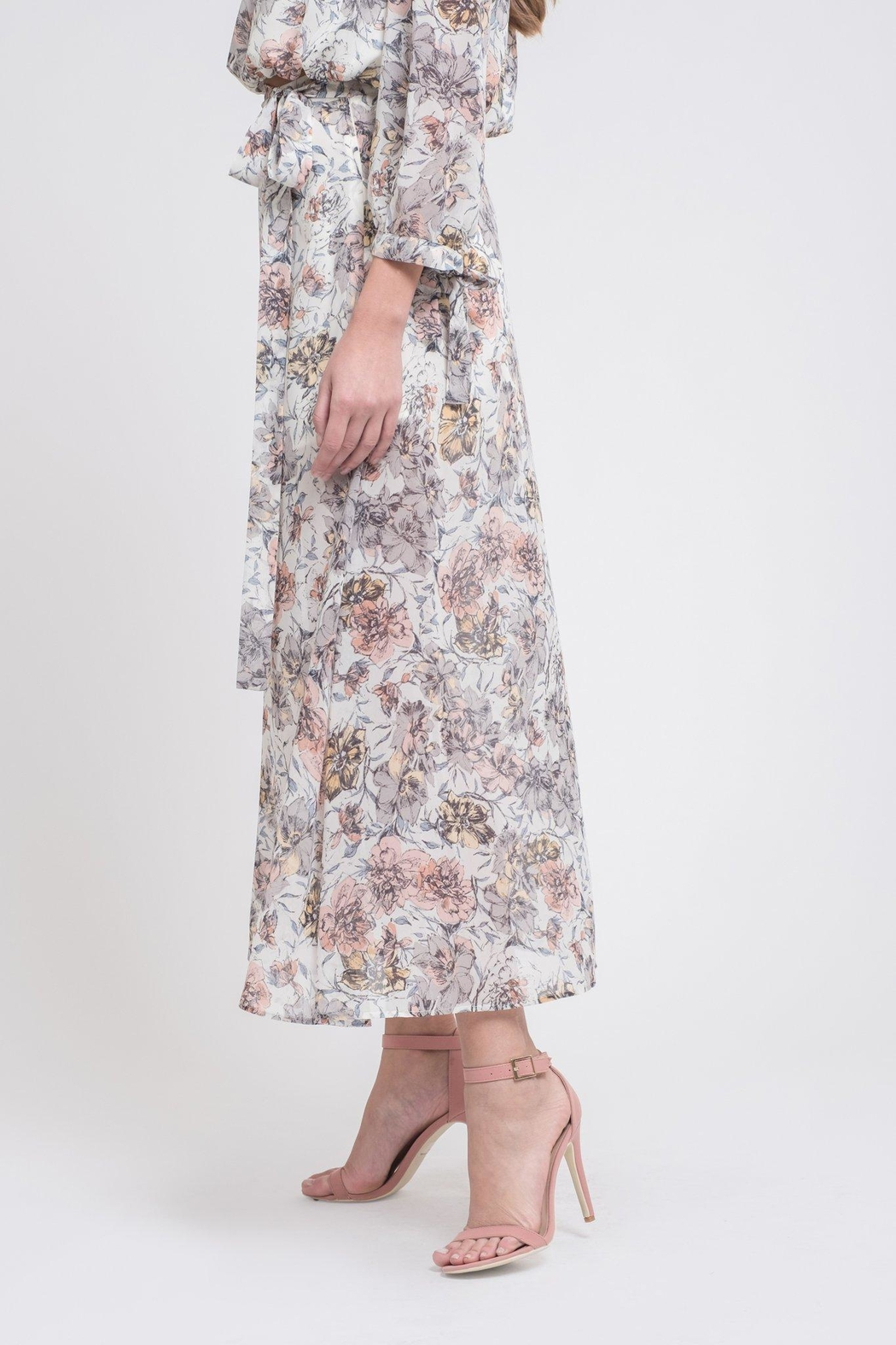 J.O.A. Floral Maxi Skirt - Front Full Image