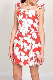 J.O.A. Red Floral Print Dress - Product Mini Image