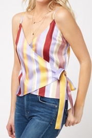 J.O.A. Lavender Stripe Top - Product Mini Image