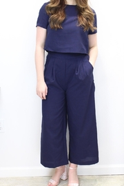 J.O.A. Michelle Navy Jumpsuit - Product Mini Image