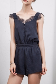 J.O.A. Open Back Lace Romper - Product Mini Image