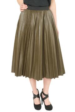 Shoptiques Product: Pleather Pleated Skirt