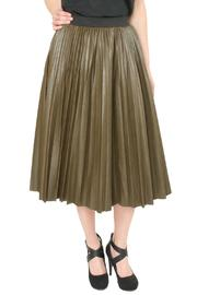 J.O.A. Pleather Pleated Skirt - Product Mini Image
