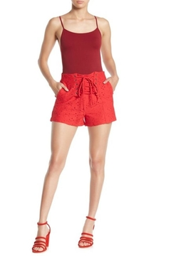 Shoptiques Product: Red Lace Shorts