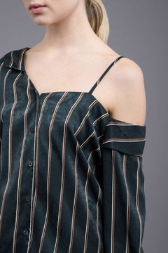 Shoptiques Product: Striped Green Shirt