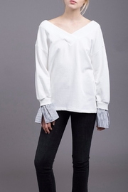 J.O.A. Contrast Sleeve Sweatshirt - Product Mini Image