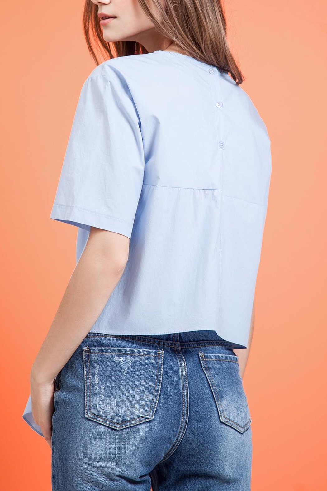 J.O.A. Tie Waist Top - Side Cropped Image