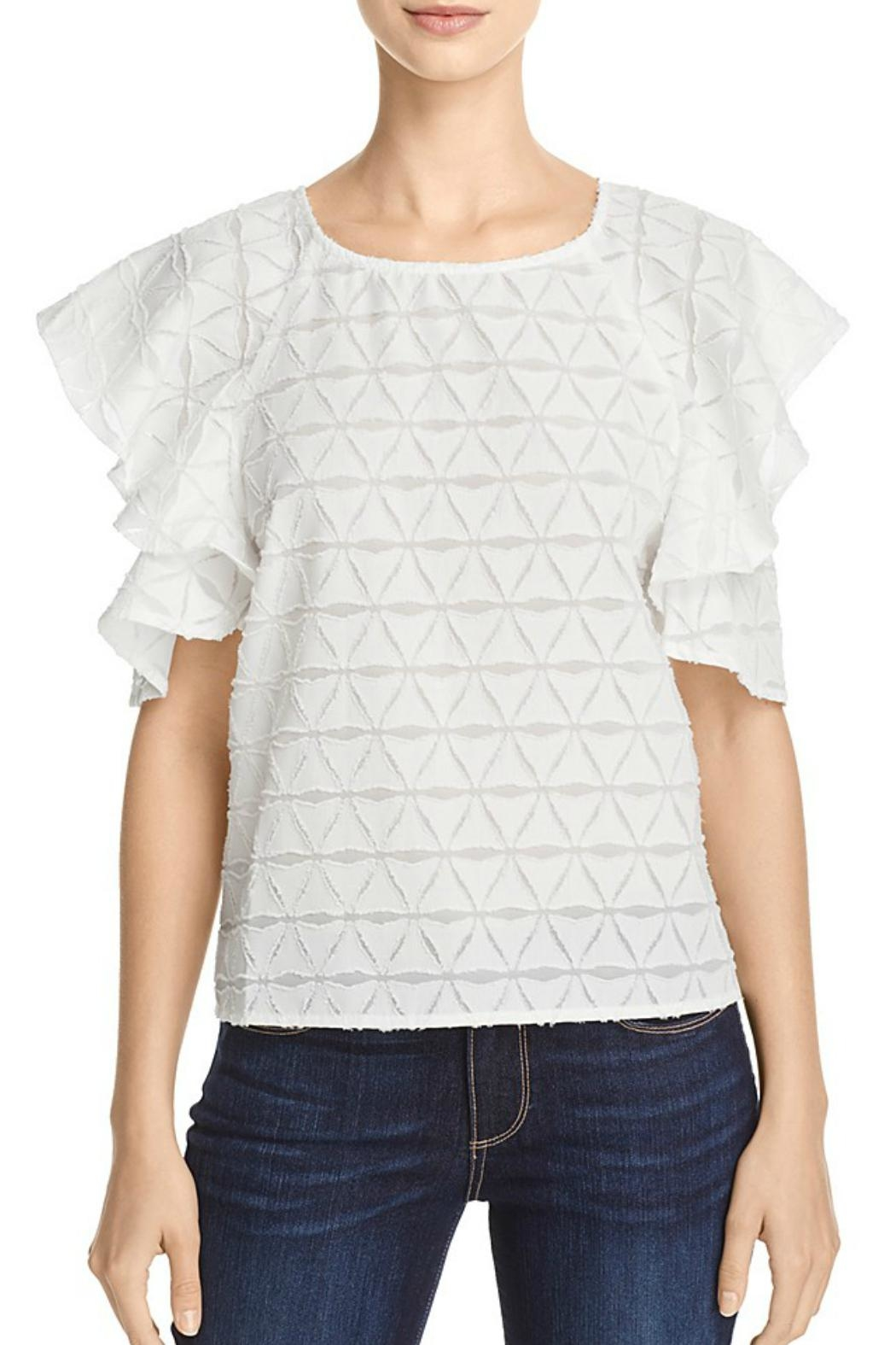 J.O.A. Tiered Cold Shoulder Top - Main Image