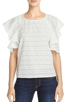 Shoptiques Product: Tiered Cold Shoulder Top