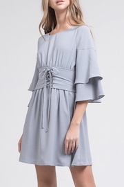 J.O.A. Tiered-Sleeve Corset Dress - Front cropped