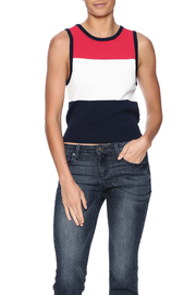 J.O.A. Crop Sweater Vest - Front cropped