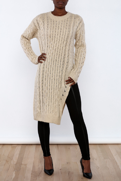 Shoptiques Product: Long Sweater With Slit