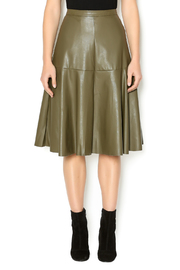 J.O.A. Moss Faux Leather Skirt - Product Mini Image