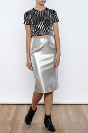 J.O.A. FAux Leather Pencil Skirt - Front full body