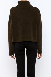 J.O.A. Turtleneck Crop Sweater - Back cropped