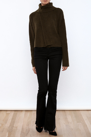 J.O.A. Turtleneck Crop Sweater - Front full body