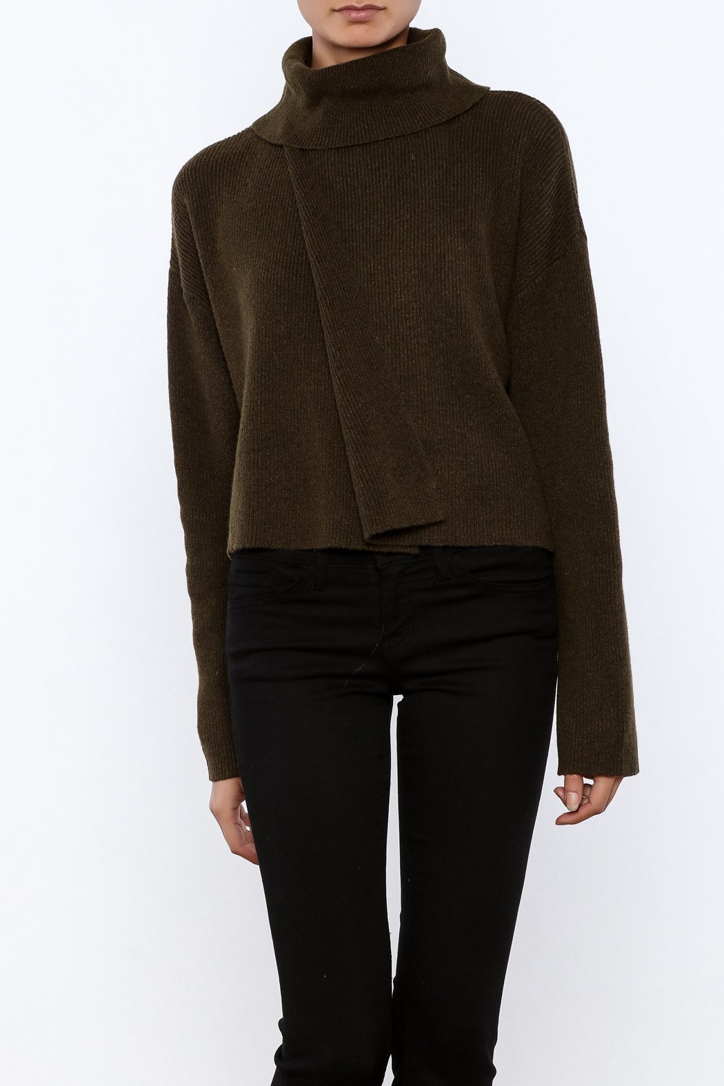J.O.A. Turtleneck Crop Sweater - Main Image