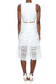 J.O.A. White Lace Dress - Back cropped