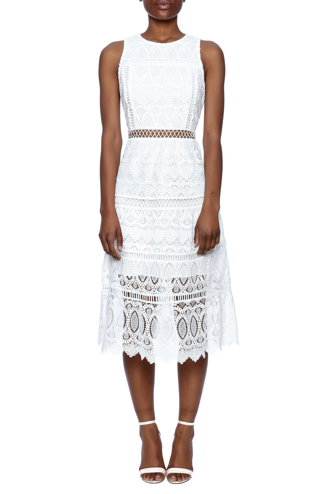 J.O.A. White Lace Dress - Main Image