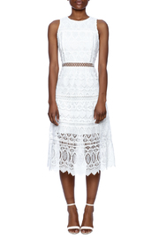 J.O.A. White Lace Dress - Front cropped