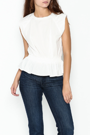 J.O.A. Woven Peplum Blouse - Front cropped