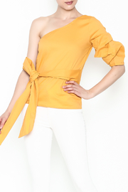 J USA One Shoulder Top - Front cropped