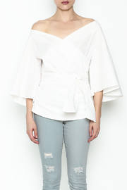 J USA Wrap Waist Top - Front full body