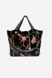 Johnny Was J07820-9 - Uriah Velvet Tote Bag - Product Mini Image