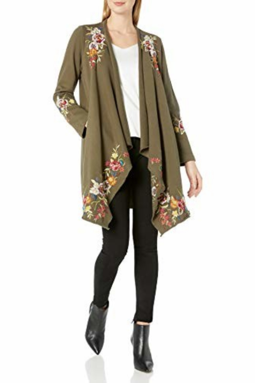 Johnny Was J41820-O - Adah F.T. Draped Cardigan Coat - Front Full Image
