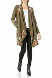 Johnny Was J41820-O - Adah F.T. Draped Cardigan Coat - Front full body