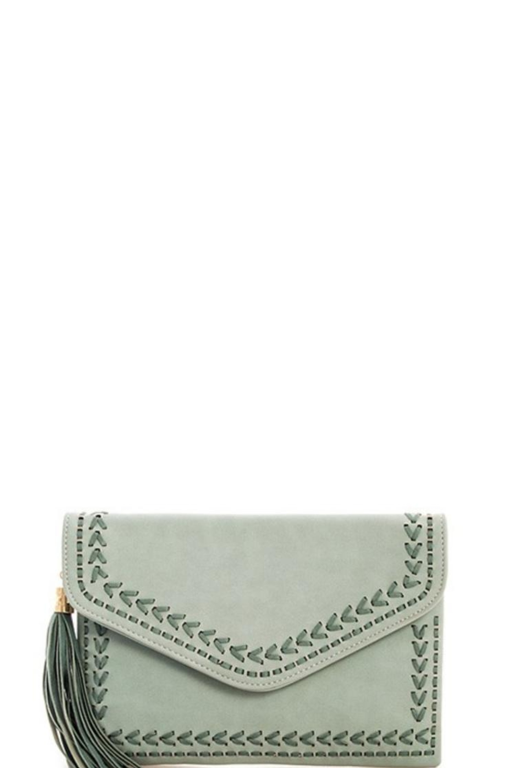 J Brand  Chic Tassel Clutch - Front Cropped Image