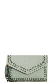 J Brand  Chic Tassel Clutch - Front cropped