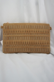 J Brand  Weaved-Tassle Leather Clutch - Front cropped