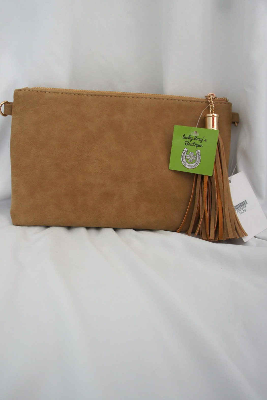 J Brand  Weaved-Tassle Leather Clutch - Back Cropped Image