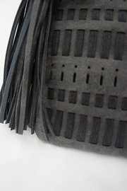 J Brand  Weaved-Tassle Leather Clutch - Product Mini Image