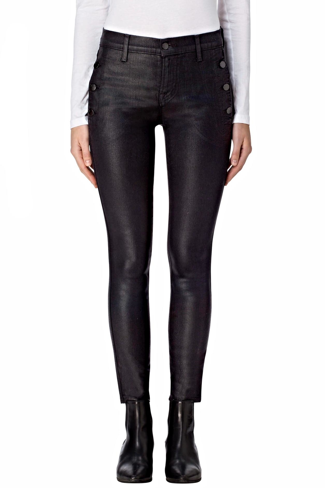 J Brand  Zion Coated Skinny - Front Cropped Image
