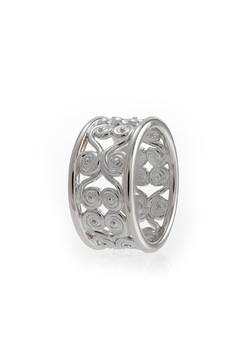 Shoptiques Product: Filigree Silver Ring Band