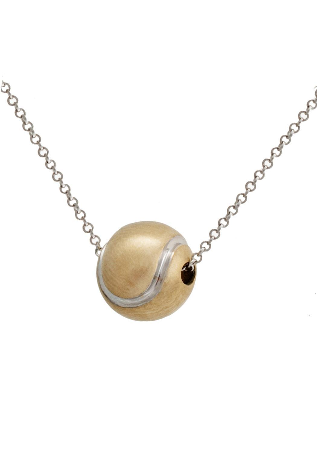 J Briggs & Co. Tennisball 14k Necklace - Front Full Image