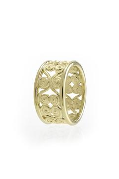 J Briggs & Co. Filigree 14k Ring Band - Alternate List Image