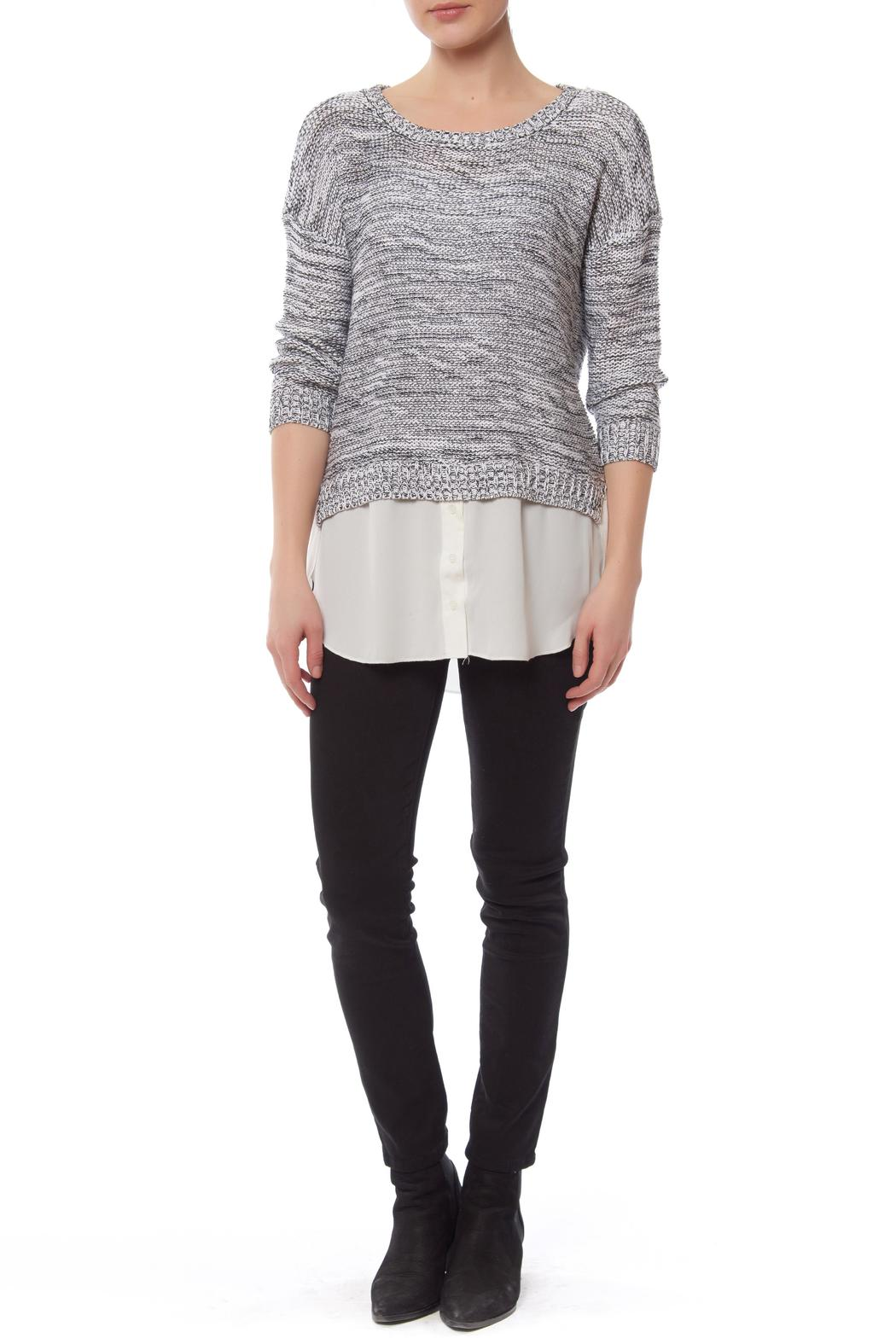 Cropped Sweater Blouse Combo Anlis