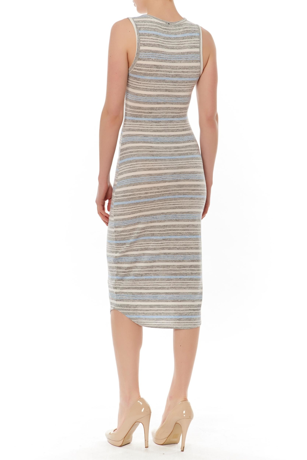 J HARPER Multi Stripe Dress - Front Full Image