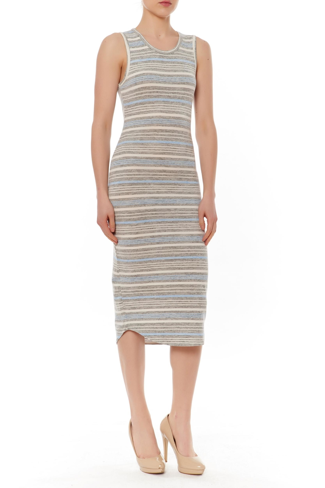 J HARPER Multi Stripe Dress - Front Cropped Image