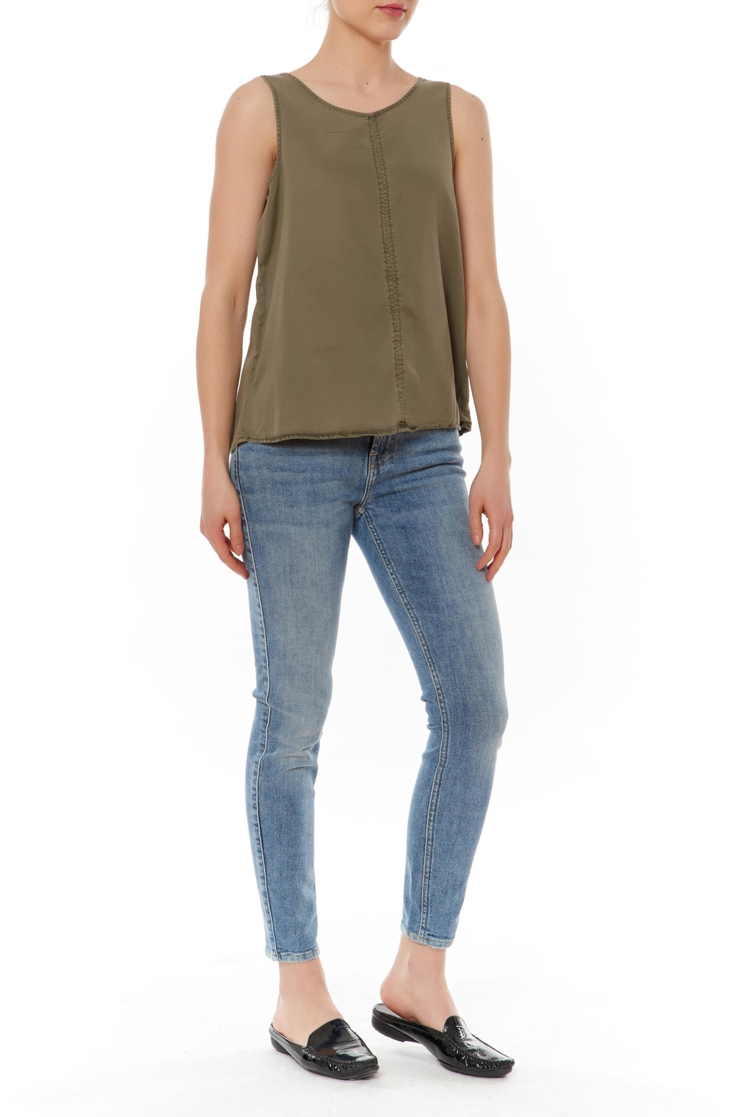 J HARPER Sleeveless Olive Top - Main Image