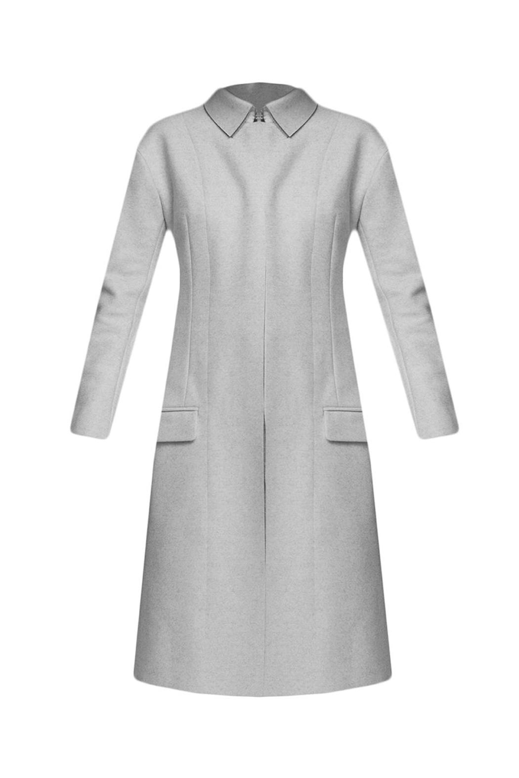 J JS Lee Raw Edged A-Line Coat - Front Cropped Image