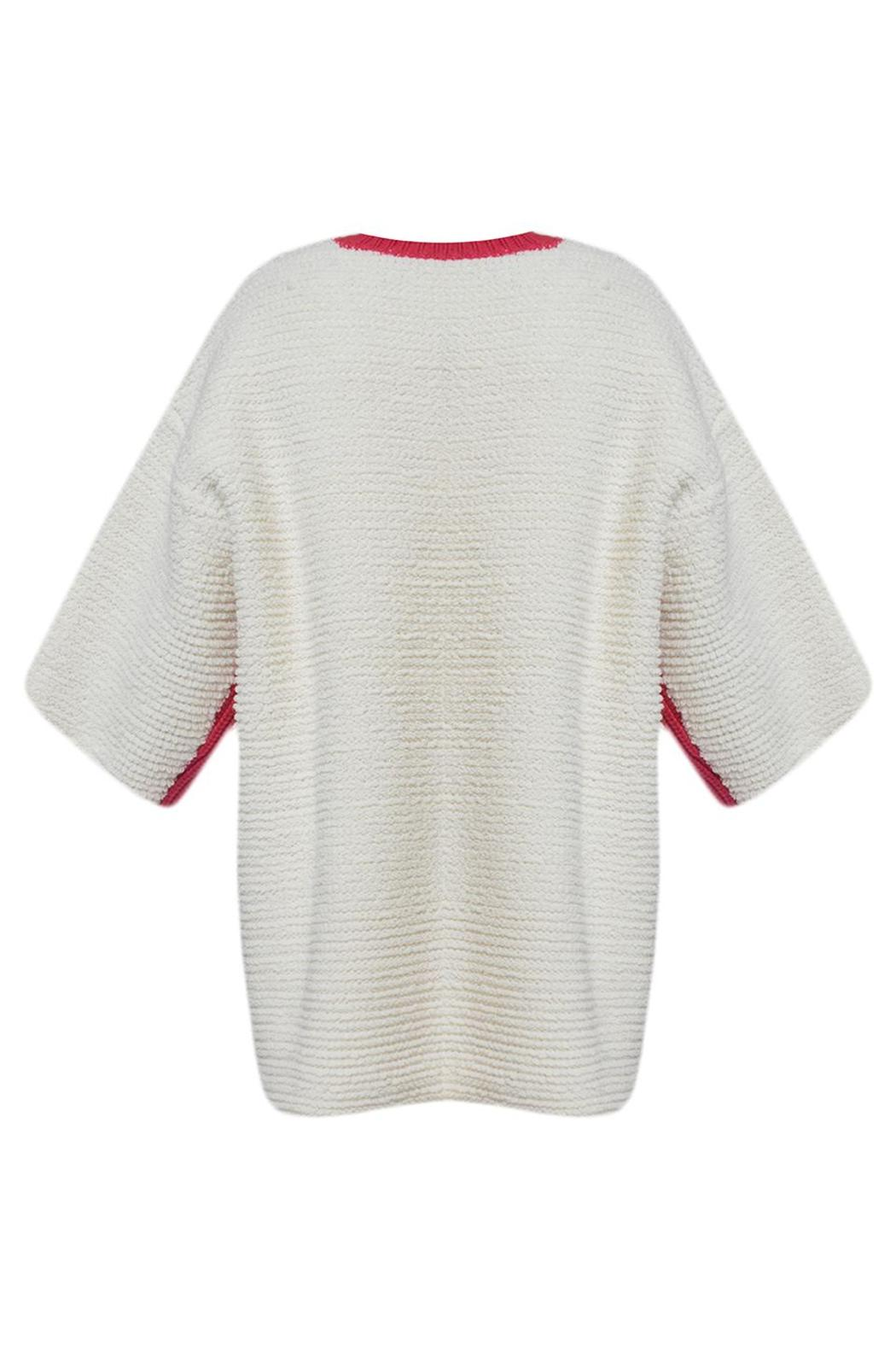 J JS Lee Rugback Chunky Sweater - Front Full Image