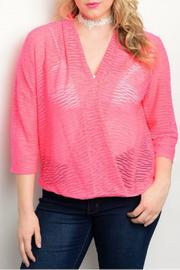 Ja Ja Plus-Sized Burnout Top - Product Mini Image