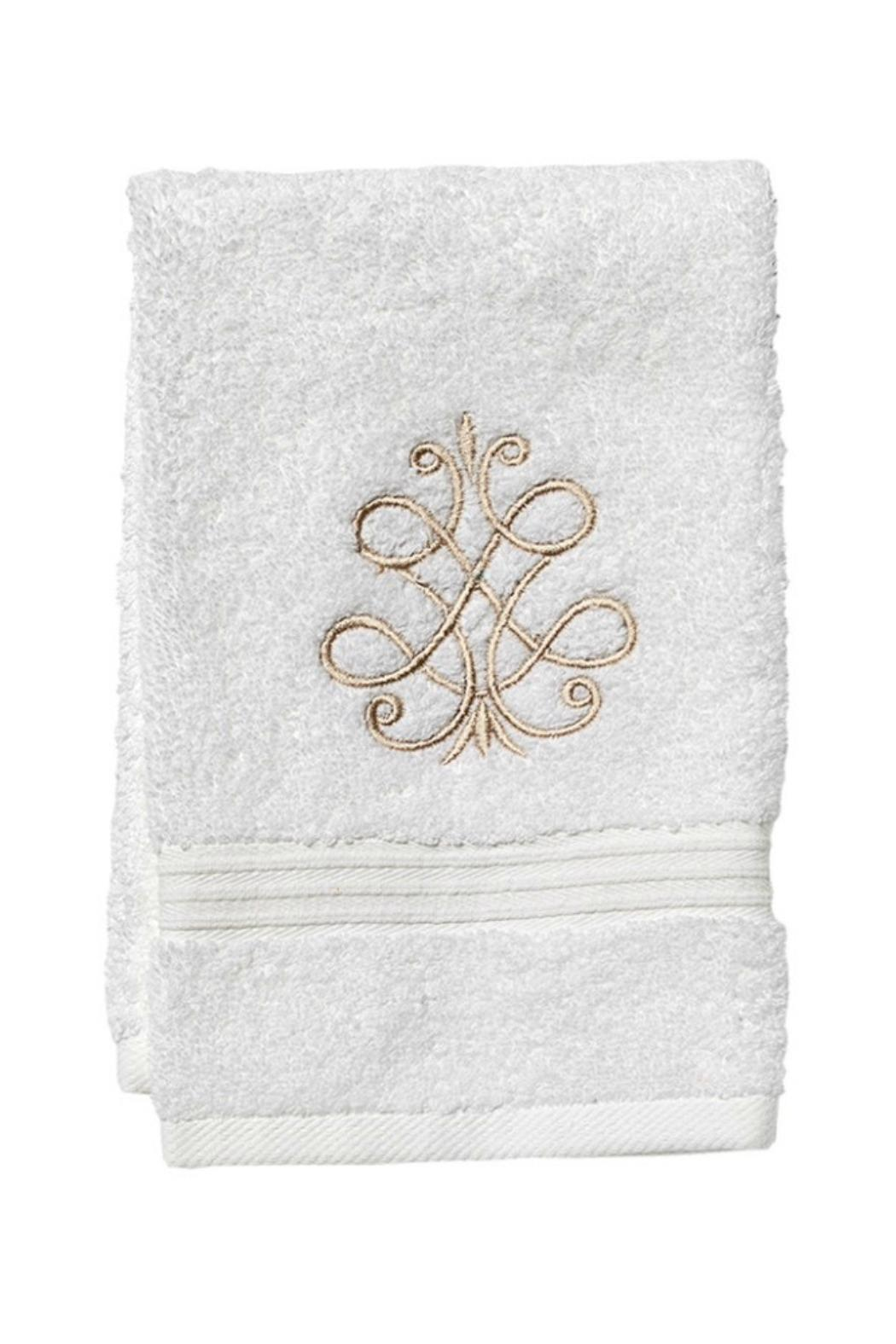 Jacaranda Living Embroidered Guest Towel - Main Image