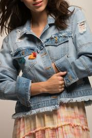 jachs girlfriend Denim Embriodered Jacket - Product Mini Image