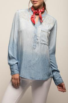 jachs girlfriend Embriodered Denim Shirt - Product List Image